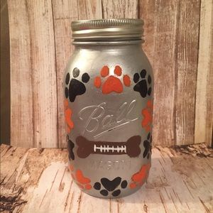 Hand painted treat jar! Great for football fans